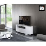 BDI Sweep Media Console (8438) in Satin White Evironment Image