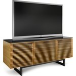 The Corridor TV stand from BDI in white oak