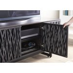 Elements TV stand with mosaic doors with door open