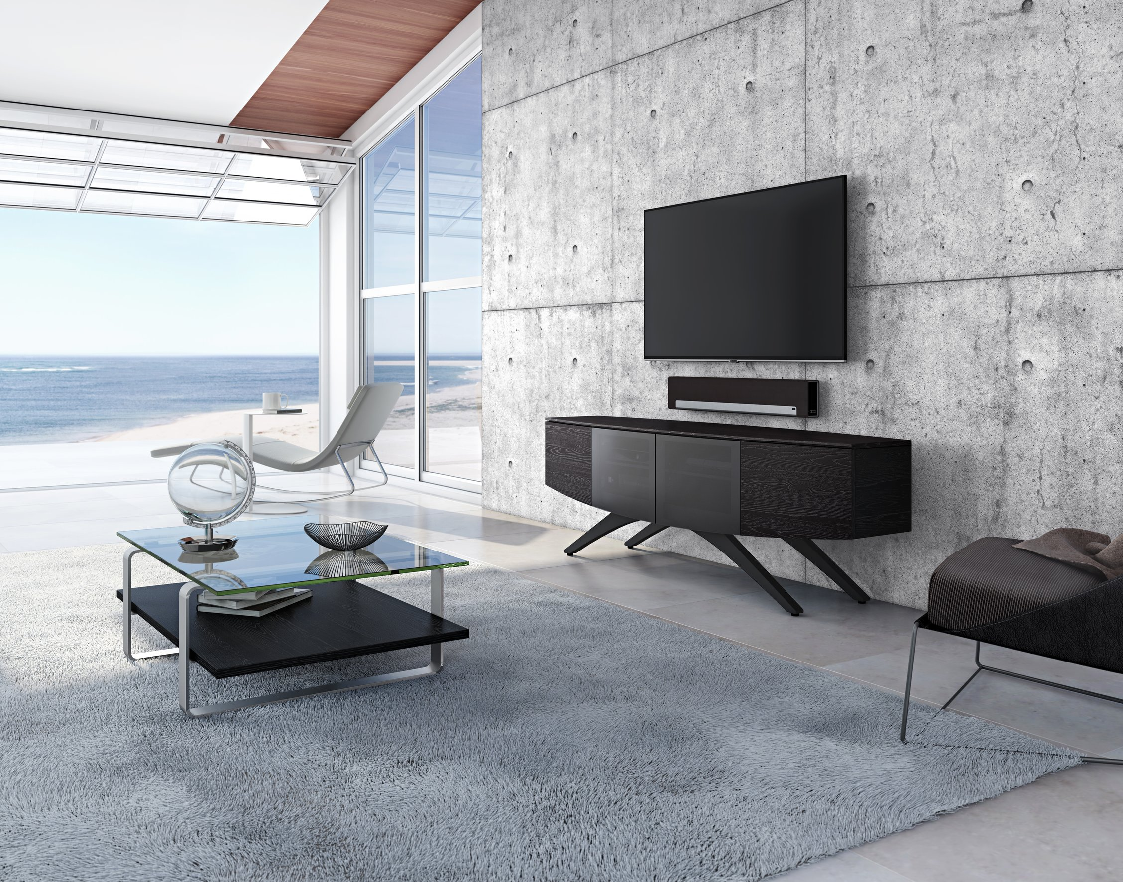 elements stand quad tv l cupboard product over bdi ash furniture width inches stained charcoal media zm modern w x