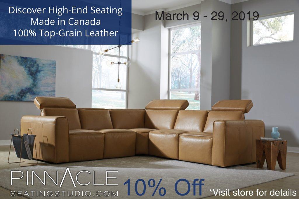 Pinnacle Seating Studio Spring 2019 Sale